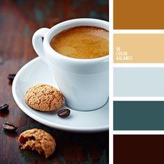 anaranjado, azulado, color café, color chocolate, elección del color, esmeralda, marrón, matices de color café con leche, selección de colores para el hogar, verde.