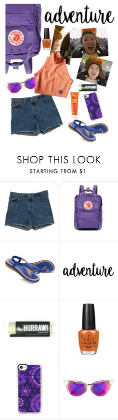 """Have some fun!"" by elliewriter ❤ liked on Polyvore featuring Abercrombie & Fitch, Fjällräven, Reebok, OPI, Casetify, Fendi and Hampton Sun"