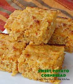 Sweet Potato Cornbread – Can't Stay Out of the Kitchen Sweet Potato Cornbread, Moist Cornbread, Honey Cornbread, Mashed Sweet Potatoes, Recipe Using Honey, Baked Pancakes, Pastry Blender, Glass Baking Dish