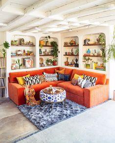 Boho Chic Living Room, Living Room Decor, Living Room Designs, Living Spaces, Colorful Living Rooms, Small Living, Modern Living, Living Room Inspiration, Design Inspiration