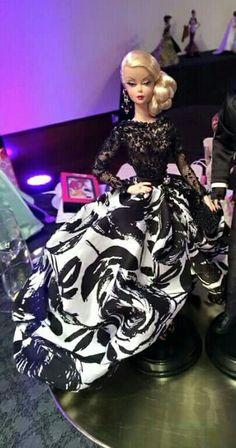 Silkstone BArbie Doll in black and white