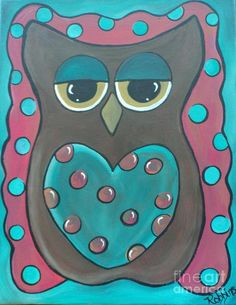 'Baby Owl' by Christy Robbins