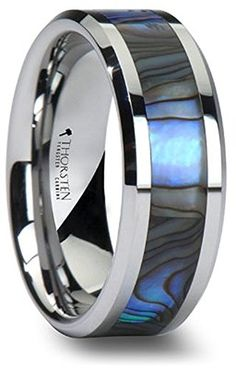 Tungsten Wedding Band with Mother of Pearl Inlay 8mm Tung... https://www.amazon.com/dp/B00JRJZ3DO/ref=cm_sw_r_pi_dp_x_DSUnybHN87E5G