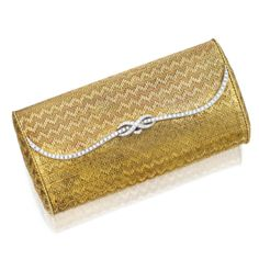 Women's Purses : van cleef and arpels Vanity Case, Evening Bags, Evening Clutches, Cigar Cases, Gold Clutch, Van Cleef Arpels, Womens Purses, Diamond Gemstone, Luxury Bags