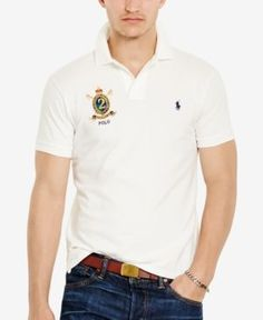 Polo Ralph Lauren Men's Custom-Fit Featherweight Cotton Polo Shirt - White L