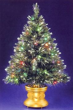 Merske 36 Inch Multi Color LED Fiber Optic Christmas Tree Green  - 36 Fiber Optic Christmas Tree