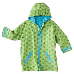 iPlay® Infant Toddler Mid-Weight Raincoat - Green.Opens in a new window