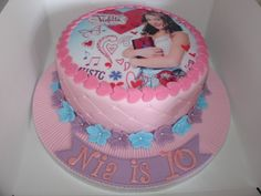 Disney's Violetta Fondant Cake - (Feb 2014) Edible Topper of Violetta. Hope you like it!! xMCx