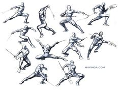 Studies for poses by mavinga.deviantart.com on @deviantART