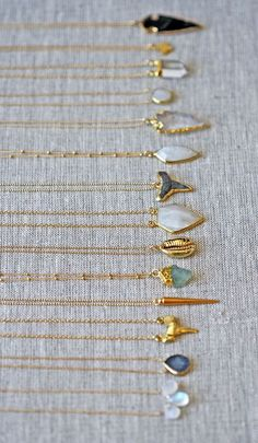 gold chains all lined up | kei jewelry...