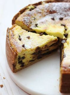 Tarte italienne ricotta & pépites de chocolat A delicious torta with fresh cheese, vanilla and chocolate, to taste for afternoon tea … Nutella Wallpaper, Ricotta Torte, Mexican Dessert Recipes, Sweet Recipes, Cake Recipes, Chocolate Chip Recipes, Chocolate Chips, Chocolate Cream, Sweet Pie