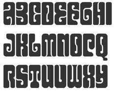 psychedelic font. i love the counters and how they are far from being circles. the wavy feel echoes a lava lamp
