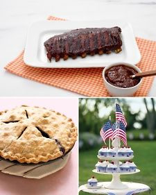 Get set for Independence Day with our all-American recipes and crafts. For a delicious, stress-free cookout, try our decadent barbecue dishes, irresistible snacks and sides, and festive desserts. The food will taste even better when set among your red, white, and blue Independence Day decorations!