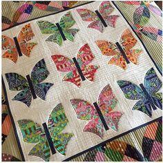 Butterfly❤️ new pattern #urbanologie #sewkindofwonderful #skw #tulapink #tabbyroad #gammill #freemotionquilting #sewkindofwonderfulsherilyn