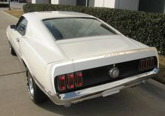 Image detail for -Wimbledon White 1969 Mach 1 Ford Mustang Fastback - MustangAttitude . 1969 Mustang Fastback, Mustang Boss, Ford Mustangs, Shelby Gt500, Coyotes, Wimbledon, Foxes, Muscle Cars, Man Cave