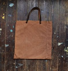 Brown bag handmade handbag unisex sakabukuro by EthicalLifeStore