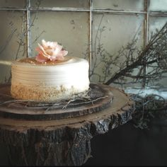 wooden cake stands | wood cake stand | rehearsal cake