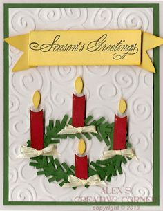 Alex's Creative Corner: Advent Wreath Card~!