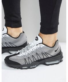 9248eb3173a73 HOT Nike Air Max 95 Ultra Jacquard Black White Trainers Air Max 360, Air Max