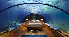 De bästa undervattenshotellen runt om i världen