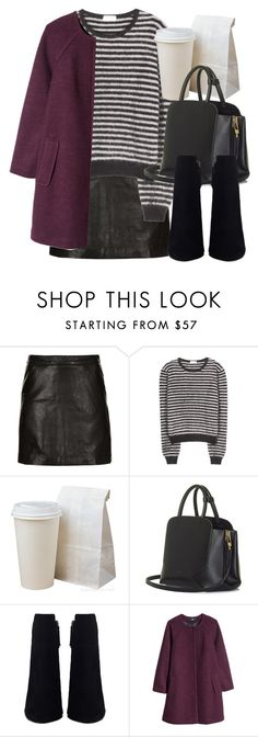 """""""Untitled #5368"""" by laurenmboot ❤ liked on Polyvore featuring Topshop, Yves Saint Laurent, BEGA and H&M"""