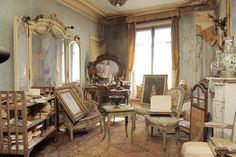 The apartment of Marthe de Florian in Paris...love the disarray and soft colors