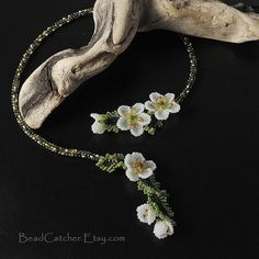 Cherry Blossom spring necklace by BeadCatcher on Etsy, $130.00