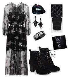 """""""⭐️Star Goddess⭐️"""" by singingsophatron on Polyvore featuring Journee Collection, Gucci, Oscar de la Renta and Chanel"""