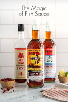 Best fish sauce for Asian Recipes and Asian cooking? Favorite fish sauce bottles for Vietnamese Cooking and easy recipes using fish sauce. Recipes Using Fish Sauce, Whole30 Fish Recipes, Easy Fish Recipes, Sauce Recipes, Asian Recipes, Cooking Recipes, Cooking Fish, Asian Foods, Dip Recipes