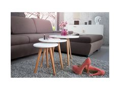Stolik kawowy Scania (3/Set) — Ławy, Stoliki kawowe Invicta Interior — sfmeble.pl  #scandinavian  #style  #interior  #homedesign #furniture  #table