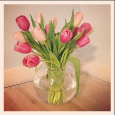 Tulips by me! Kate spade vase from my wedding china!!