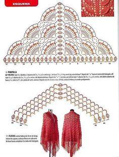 Luty Artes Crochet: xales e ponchos