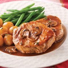Côtelettes de porc, sauce aux champignons - Recettes - Cuisine et nutrition - Pratico Pratique