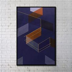 Leinwandbild Abstrakt Lila Digitaldruck mit Schwarze Rahme-A