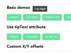 An ultra-light jQuery plugin which allows you to create highly customizable and styleable tooltips on your web page.