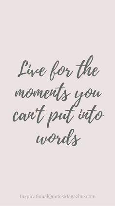 Yes! Vive para esos momentos que no se pueden poner en palabras. #connectwithyourmisma #live #nowords #follow