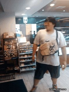 Why I love automatic doors... this has got to be the best GIF in all GIF history...