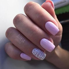 Make an original manicure for Valentine's Day - My Nails Purple Nail Art, Purple Nail Designs, Nail Art Designs, Lavender Nails, Pedicure Designs, Pedicure Colors, Nagel Gel, Gel Manicure, Perfect Nails