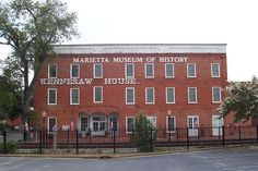 Kennesaw House, Marietta, GA - built in 1845 was used as a civil war as an ad hoc hospital. It is said that one of the civil war surgeons is still riding the elevators, and other tales that when the doors to the elevators open it's to the carnage suffered there during the civil war.