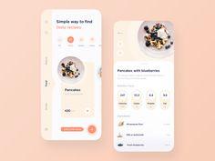 Recipe app design Recipe app design by Anna Truong for Fireart Studio on Dribbble Mobile Ui, Ui Design Mobile, App Ui Design, Interface Design, Layout Design, Design Design, User Interface, Graphic Design, Flat Design