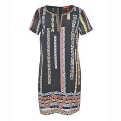 Image Платье с короткими рукавами, с рисунком RENE DERHY RENE DERHY