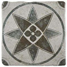 Costa Cendra Decor Starflower 7-3/4 in. x 7-3/4 in. Ceramic Floor and Wall Tile (11.5 sq. ft. / case)