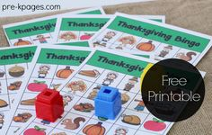 *Free download/print* (colored ink or black/white to color by hand) Thanksgiving Bingo Game for Preschool