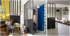 Verrière Castorama : Les Différents Modèles (Avis & Photos) Divider Design, Glass Shower, Home And Deco, Sweet Home, Inspiration, Furniture, Home Decor, Photos, Houses