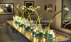 Floral Reception Decor CallaLillies Candles