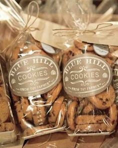 The Bride Had Custom Tags Affixed To Bags Of Mini Chocolate Chip Cookies From Her Venue A Farm Table In New York