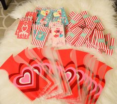 Crayon & Notepad Valentines with printable: Let's Get Some Love Up In This House   Young House Love