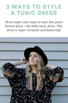The tunic dress is such a versatile piece, so I'm sharing three ways to style this throughout the seasons - including how to style a tunic dress with leggings for winter! Tunic Dress With Leggings, Oversized Blouse, Ponte Pants, Hot Dress, Black Skinnies, Simple Dresses, Fashion Dresses, Mint, Seasons
