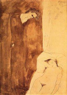 Sleeping Nude 1904 Pablo Picasso