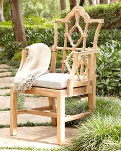 """Outdoor """"Italian"""" Armchair at Horchow."""